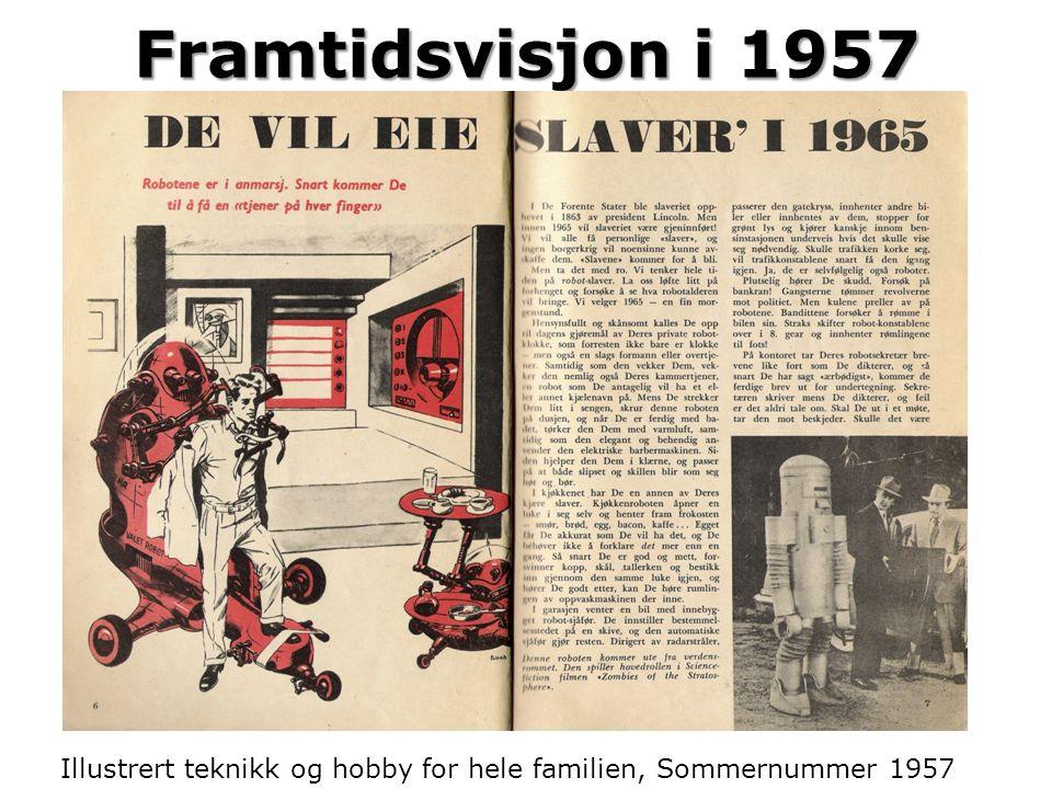 Framtidsvisjon i 1957 Illustrert teknikk og hobby for hele familien, Sommernummer 1957