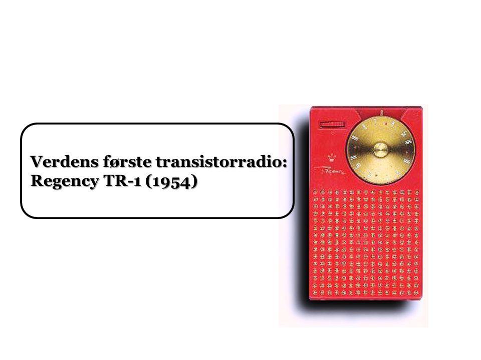 Verdens første transistorradio: Regency TR-1 (1954)