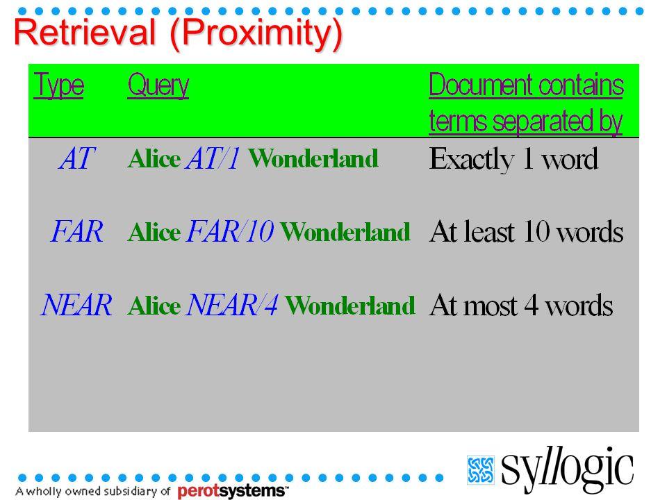 Retrieval (Proximity)