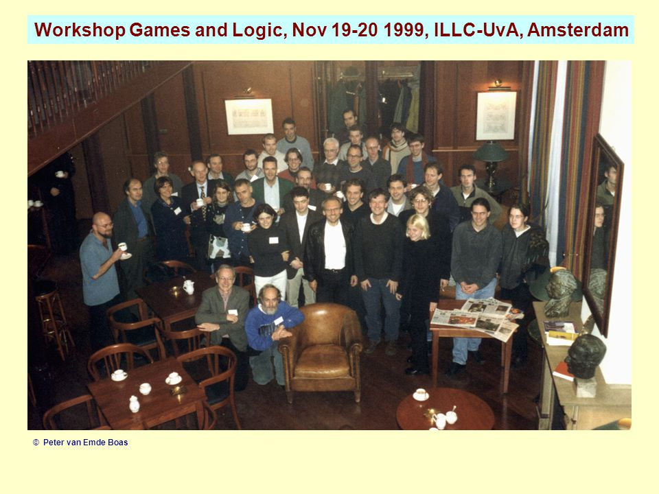 Workshop Games and Logic, Nov 19-20 1999, ILLC-UvA, Amsterdam © Peter van Emde Boas
