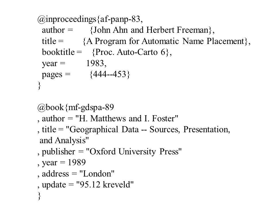 @inproceedings{af-panp-83, author = {John Ahn and Herbert Freeman}, title = {A Program for Automatic Name Placement}, booktitle = {Proc.