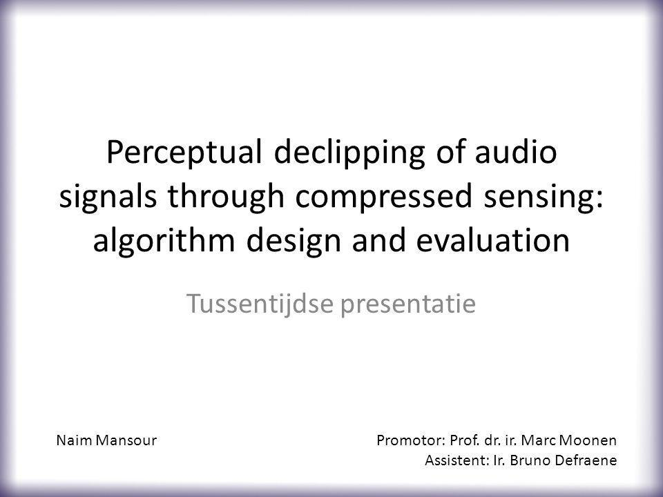 Perceptual components Perceptual weighting matrix based on acoustic loudness perception Psychoacoustically optimized (adaptive) basis 12