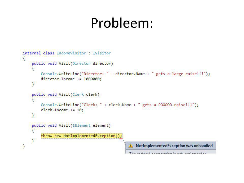 Probleem:
