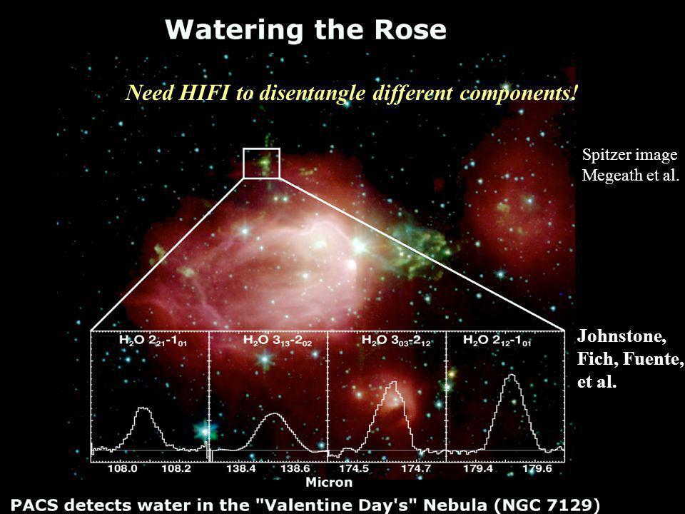 Spitzer image Megeath et al. Johnstone, Fich, Fuente, et al.