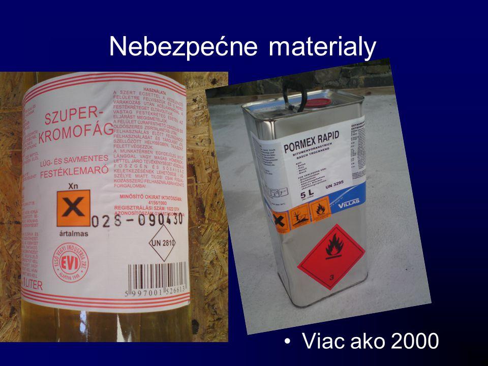 Nebezpećne materialy Viac ako 2000