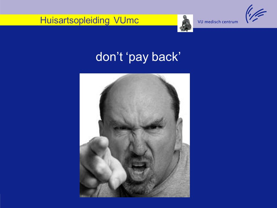 Huisartsopleiding VUmc don't 'pay back'