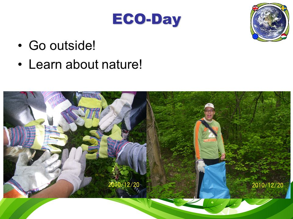 ECO-Day Go outside! Learn about nature!