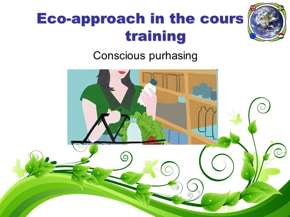 Eco-approach in the course of training Conscious purhasing