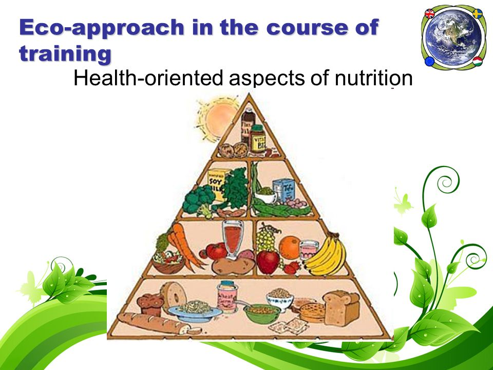 Eco-approach in the course of training Health-oriented aspects of nutrition