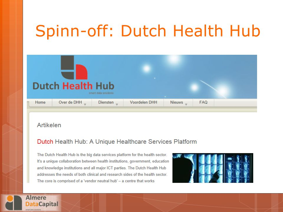 Spinn-off: Dutch Health Hub