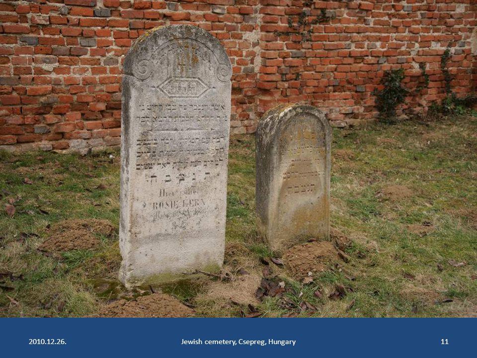 2010.12.26.Jewish cemetery, Csepreg, Hungary10