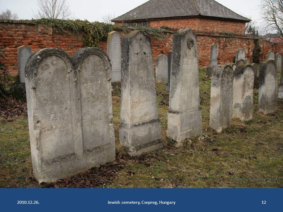 2010.12.26.Jewish cemetery, Csepreg, Hungary11
