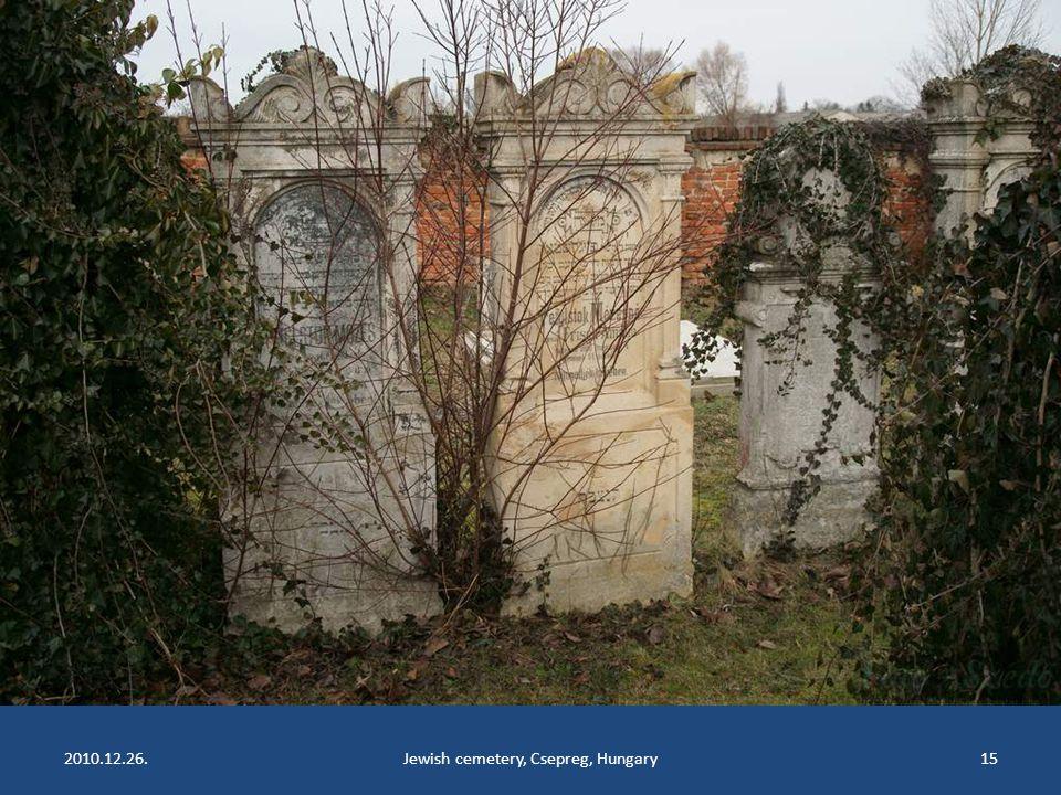 2010.12.26.Jewish cemetery, Csepreg, Hungary14