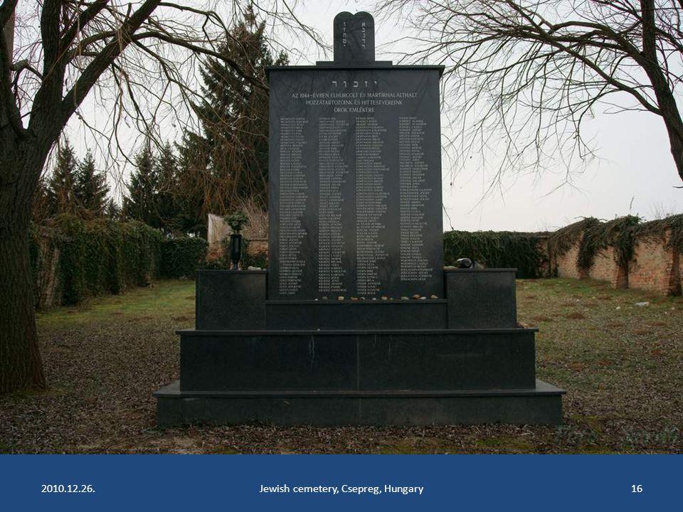 2010.12.26.Jewish cemetery, Csepreg, Hungary15