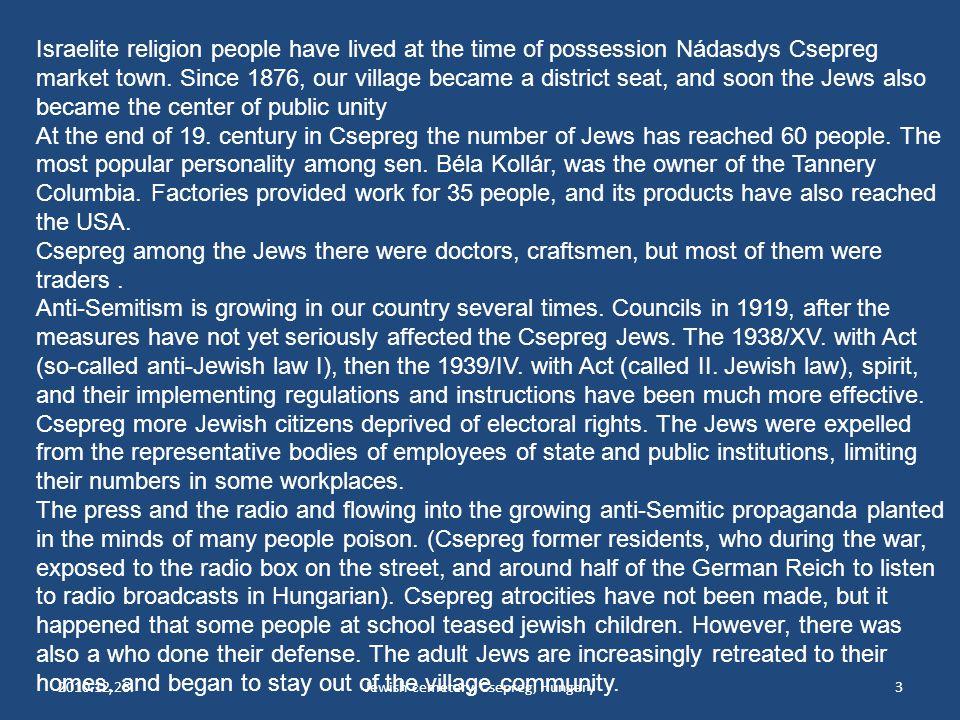 2010.12.26.Jewish cemetery, Csepreg, Hungary3 Israelite religion people have lived at the time of possession Nádasdys Csepreg market town.