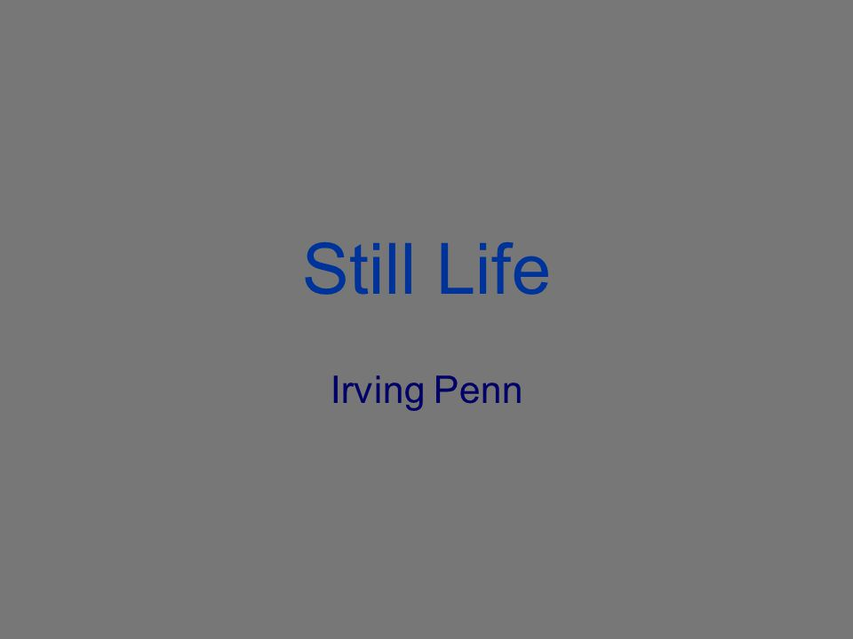 Still Life Irving Penn