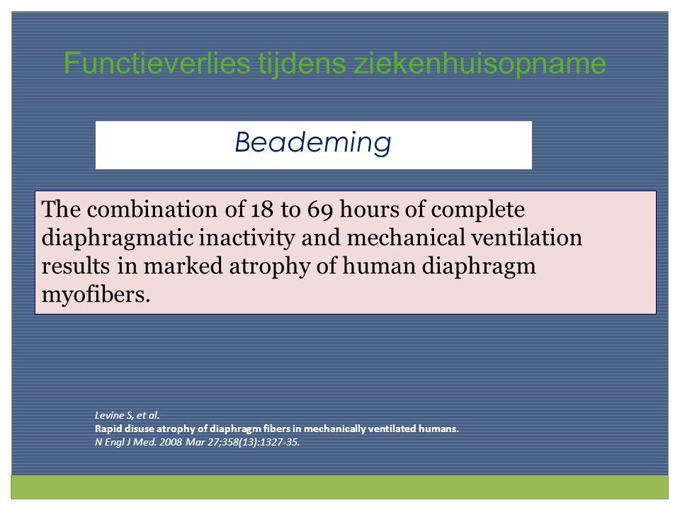 Mechanical Ventilation Oxidative Stress Protein Degradation Rapid Atrophy