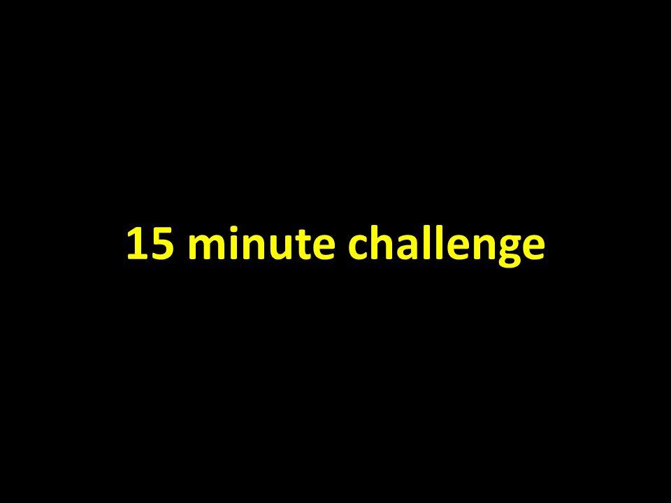 15 minute challenge