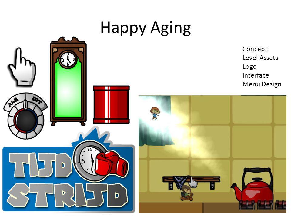 Happy Aging Concept Level Assets Logo Interface Menu Design
