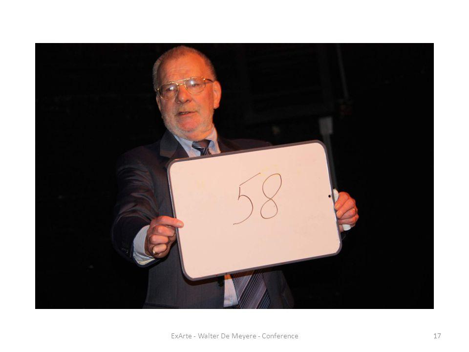 ExArte - Walter De Meyere - Conference17
