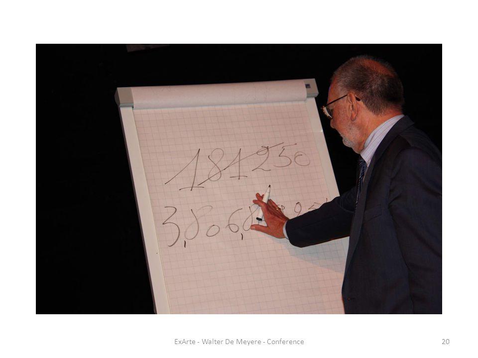 ExArte - Walter De Meyere - Conference20