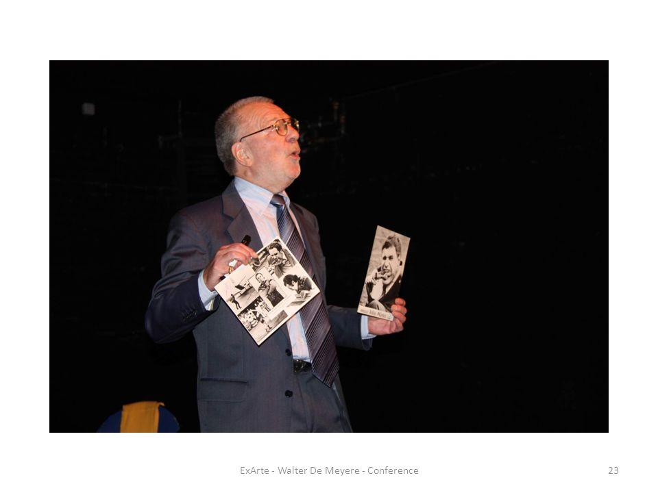 ExArte - Walter De Meyere - Conference23