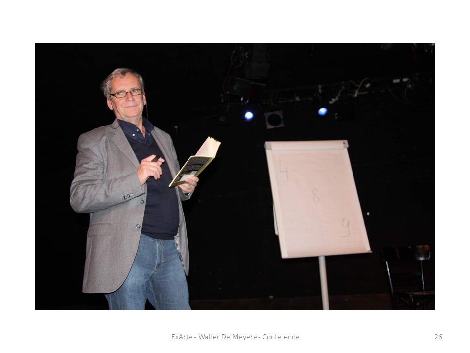 ExArte - Walter De Meyere - Conference26