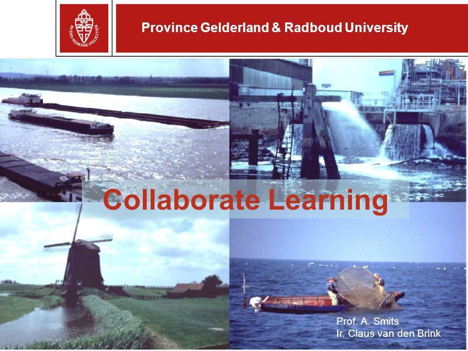 Province Gelderland & Radboud University Collaborate Learning Prof.