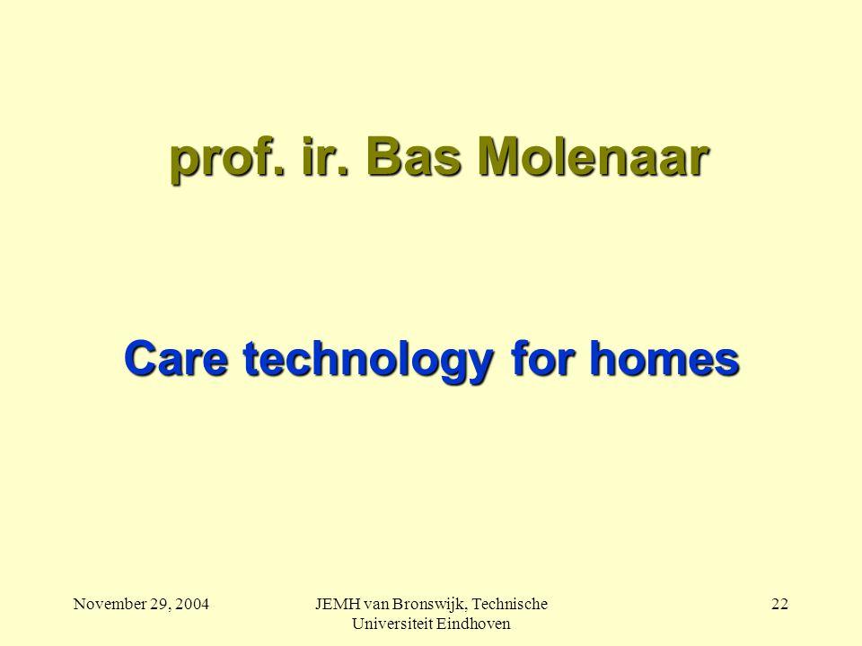 November 29, 2004JEMH van Bronswijk, Technische Universiteit Eindhoven 22 prof.