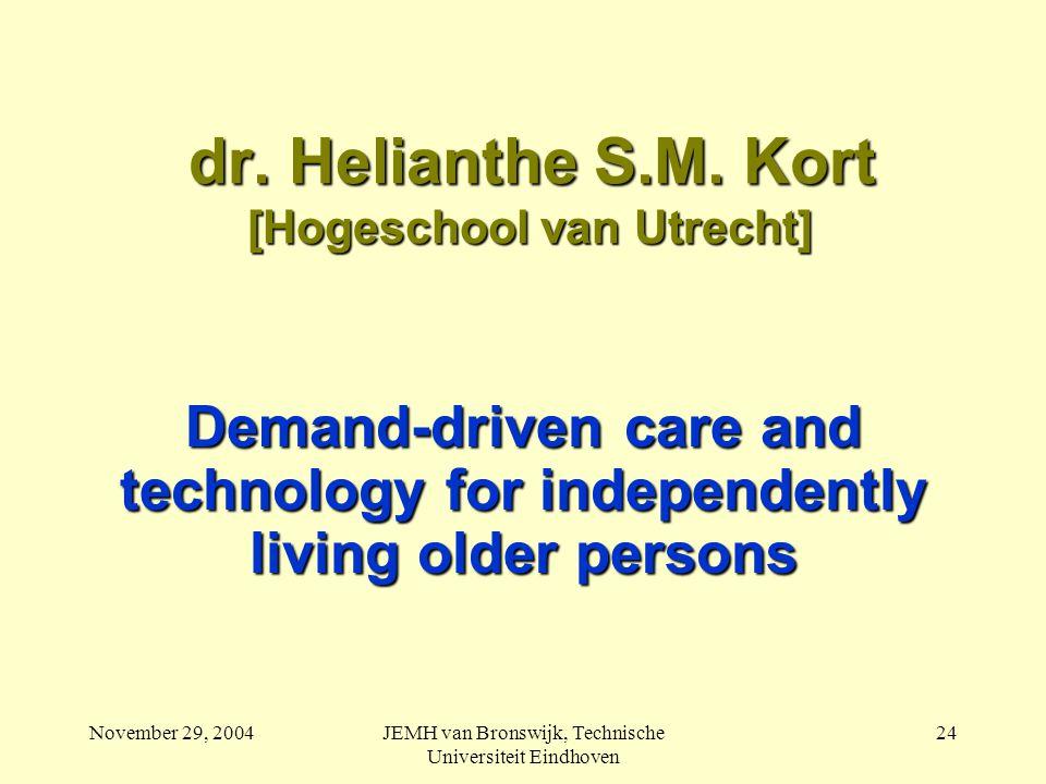 November 29, 2004JEMH van Bronswijk, Technische Universiteit Eindhoven 24 dr.