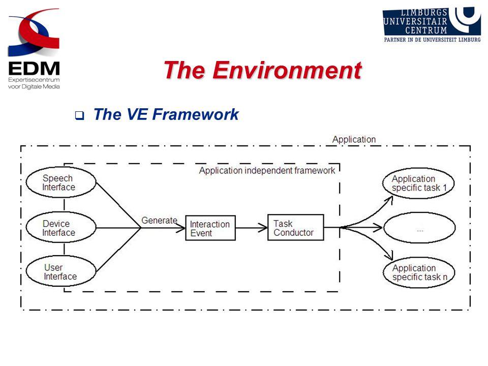 The Environment  The VE Framework