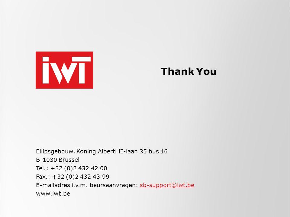 Ellipsgebouw, Koning Albertl II-laan 35 bus 16 B-1030 Brussel Tel.: +32 (0)2 432 42 00 Fax.: +32 (0)2 432 43 99 E-mailadres i.v.m.