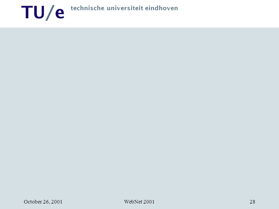 TU/e technische universiteit eindhoven WebNet 2001October 26, 200128
