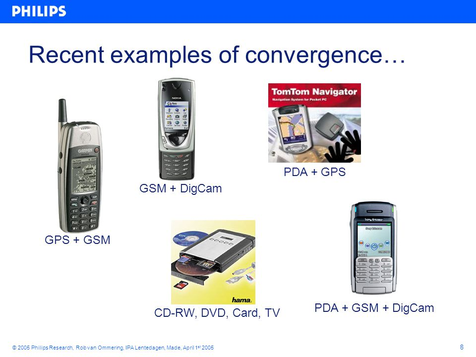 19 © 2005 Philips Research, Rob van Ommering, IPA Lentedagen, Made, April 1 st 2005 A Product CTuner CRtk CMem CApp component CProduct { contains component CApp app; component CTuner tun; component CRtk rtk; component CMem mem; connects app.i = tun.i; app.p = tun.p; tun.r = rtk.r ; tun.m = rtk.m; } CProduct Also a component!