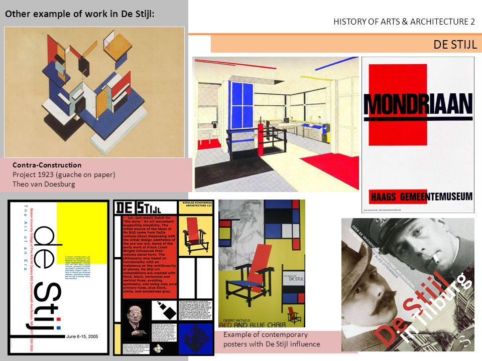 HISTORY OF ARTS & ARCHITECTURE 2 DE STIJL Other example of work influenced by De Stijl: Yves Saint Lauren 1965