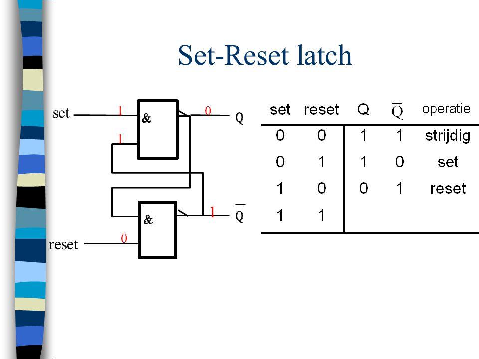 Set-Reset latch set reset 1 0 0 1 1
