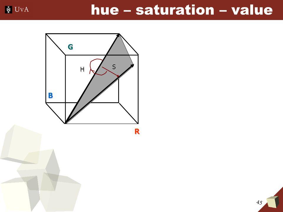 45 hue – saturation – valueB G R H S