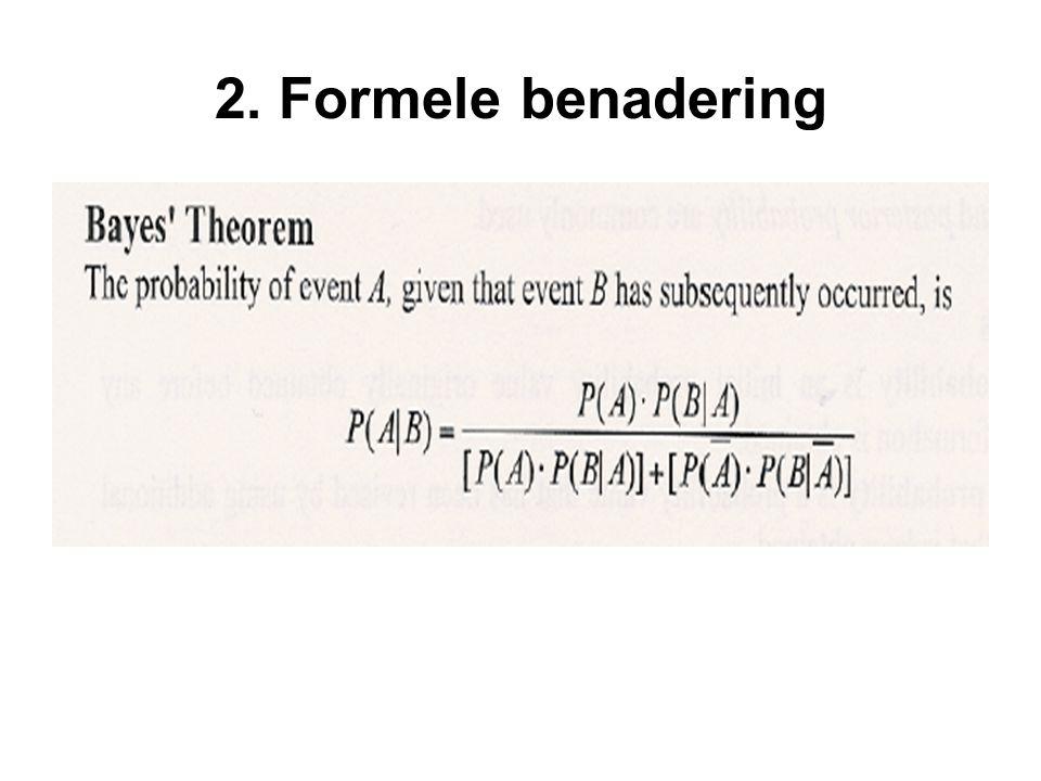 2. Formele benadering