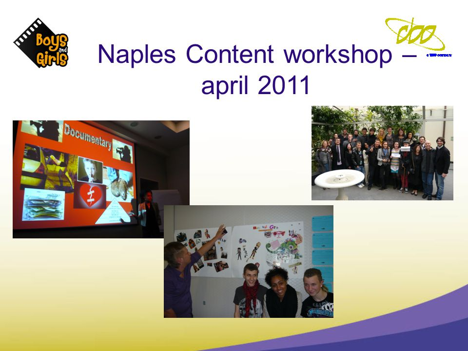 Naples Content workshop – april 2011