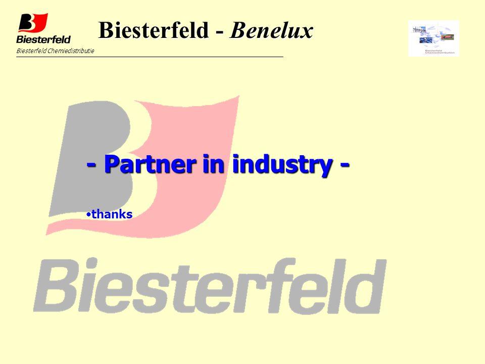 Biesterfeld Chemiedistributie - Partner in industry - thanks Biesterfeld - Benelux