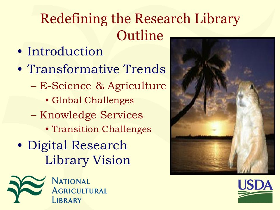 Transforming Knowledge Services for the Digital Age Redefining the Research Library Peter R.