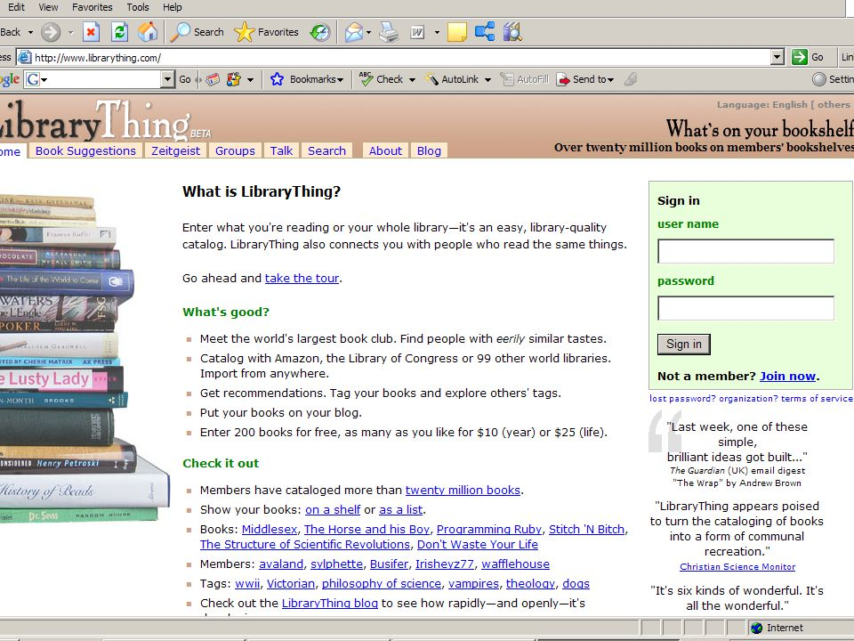 Digital Community Development Tools Customized link services & references – If you liked this… –Niche community development –69 million visitors Facebook visitors 29 million uses per day 392 million installations –206 million unique You Tube visitors 21 billion minutes Implications of social networking Web 2.0 for Research Libraries