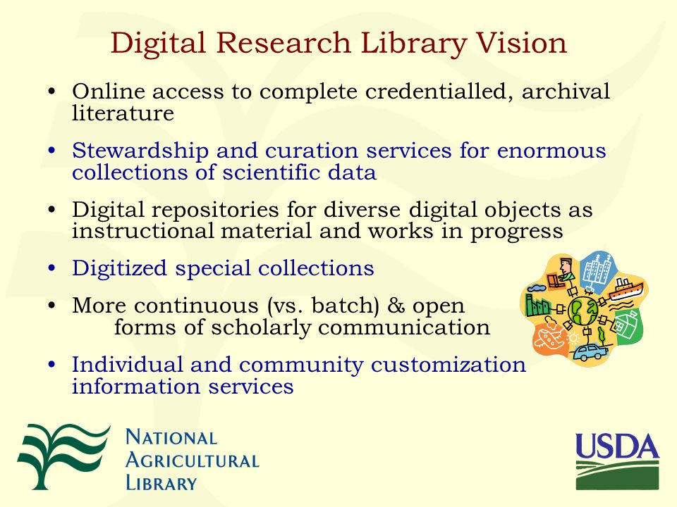 Global Cyber-Infrastructure Digital Research Library Roles Global cyberinfrastructure (CI) can become a platform for routine, effective distance-independent activities of knowledge communities World-scale collaborative teams can be common place Cyberinfrastructure offers new options for what is done, how it is done, and who participates The digital library community has made large contributions to creating this vision We now have the opportunity (and responsibility) to help make it real