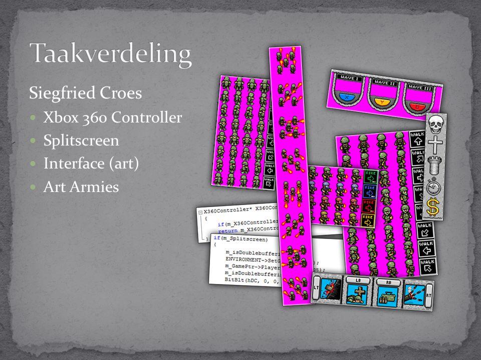 Siegfried Croes Xbox 360 Controller Splitscreen Interface (art) Art Armies