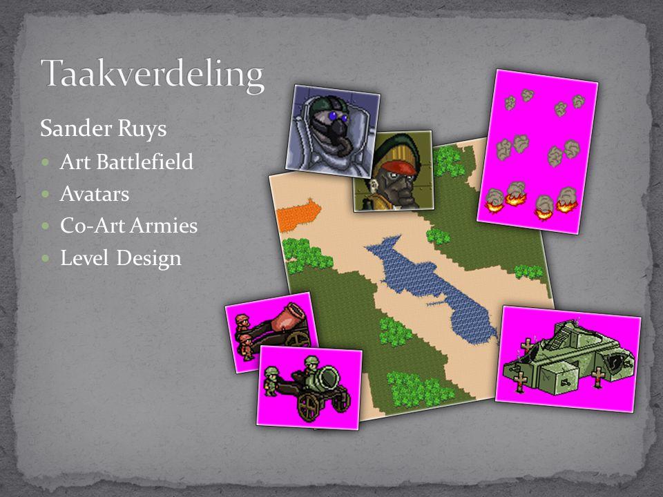 Sander Ruys Art Battlefield Avatars Co-Art Armies Level Design