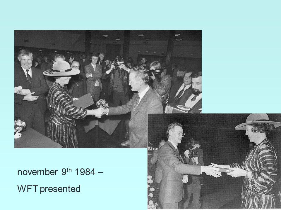 2 november 9 th 1984 – WFT presented