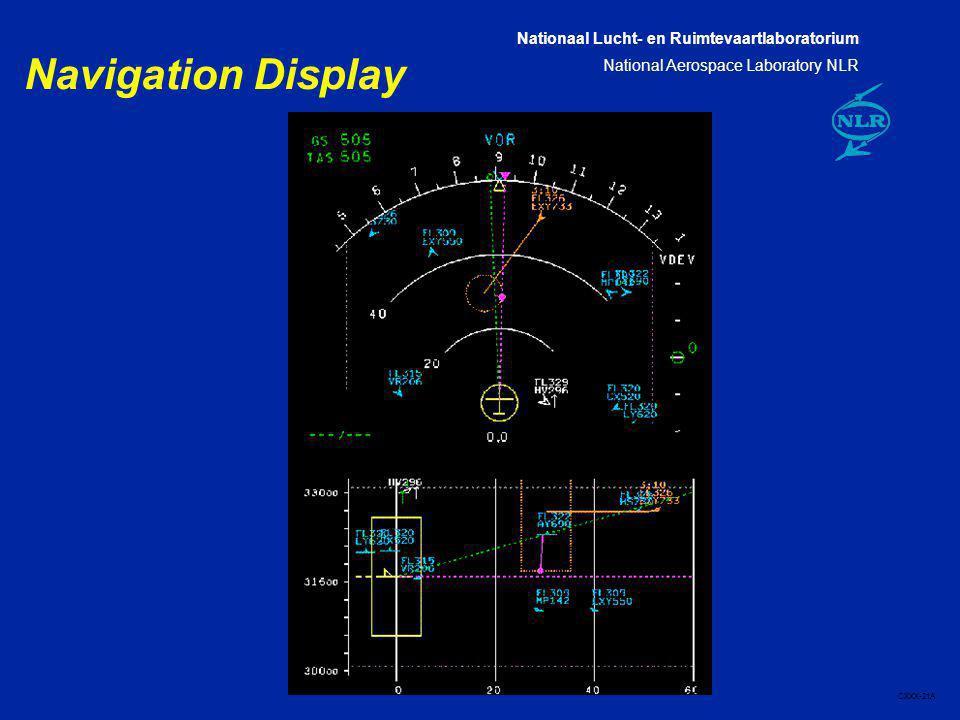 Nationaal Lucht- en Ruimtevaartlaboratorium National Aerospace Laboratory NLR CXXX-21A Navigation Display