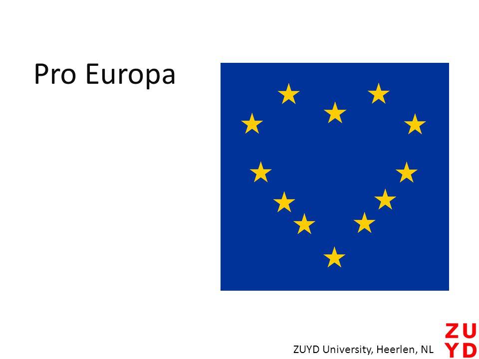 Pro Europa ZUYD University, Heerlen, NL