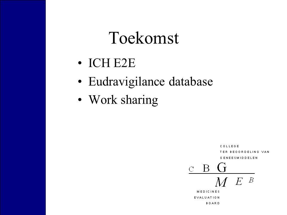 Toekomst ICH E2E Eudravigilance database Work sharing