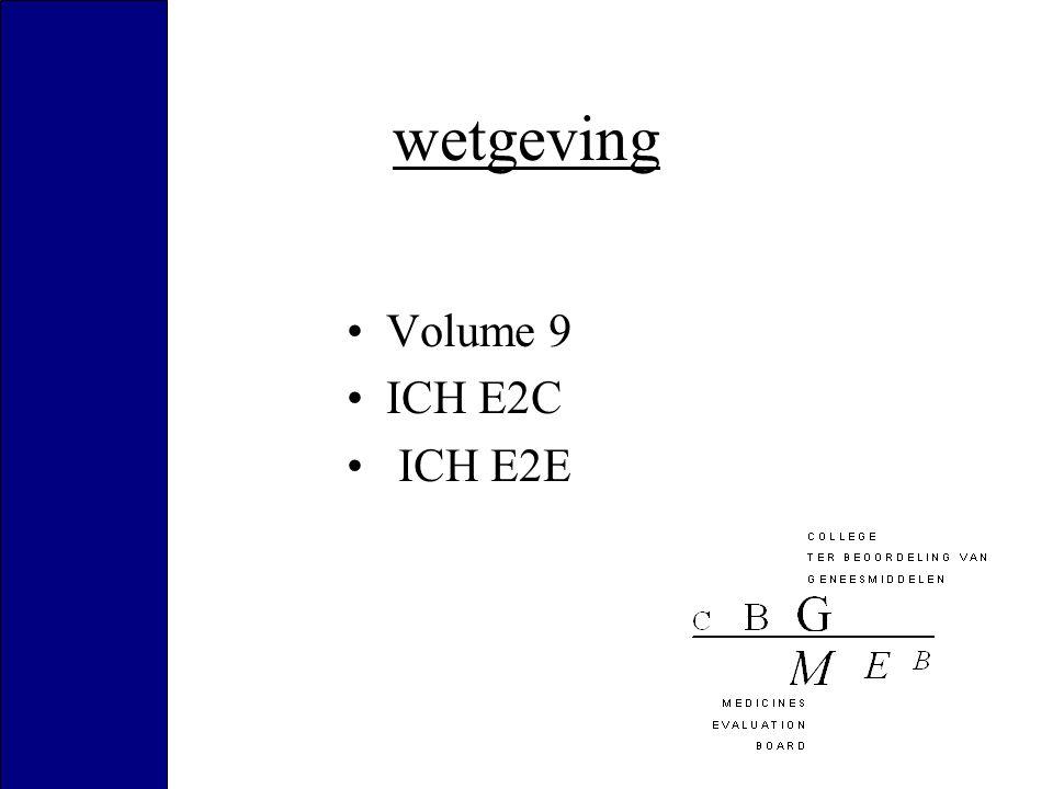 wetgeving Volume 9 ICH E2C ICH E2E